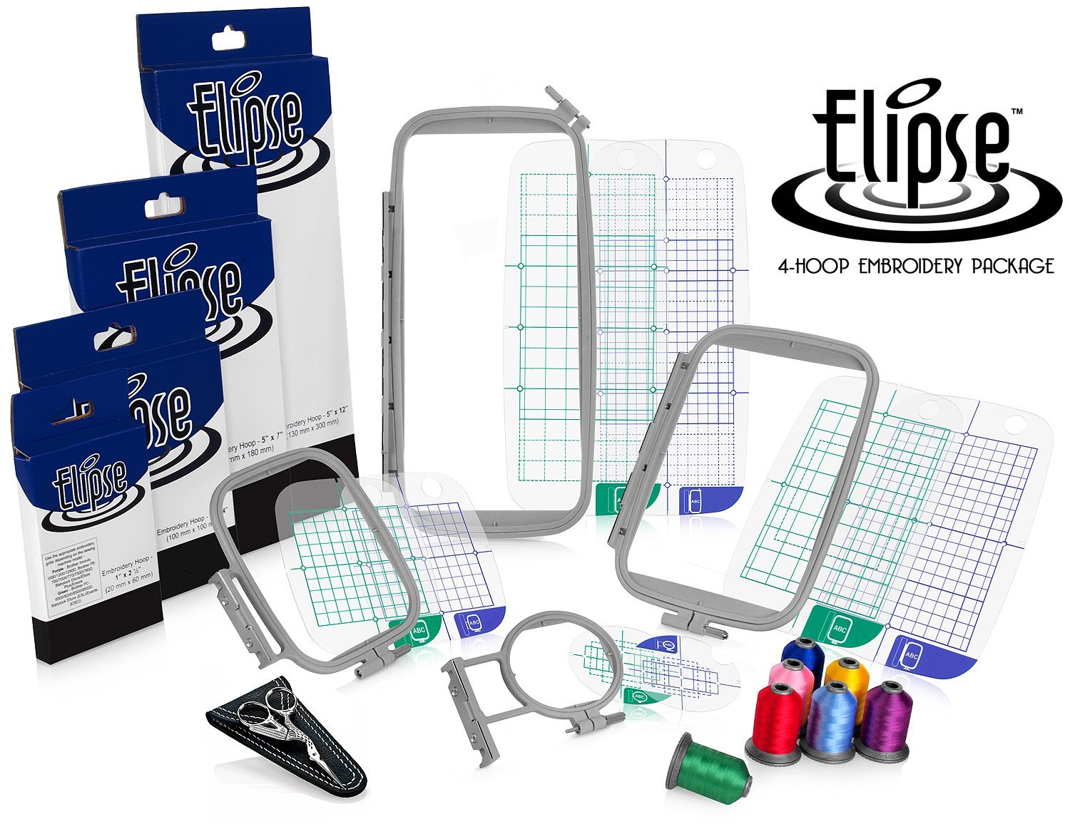 Review Elipse 4-Hoop Embroidery Package w/ Embroidery ...