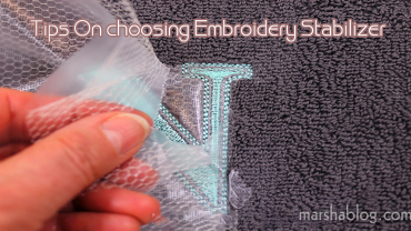 best stabilizer for machine embroidery
