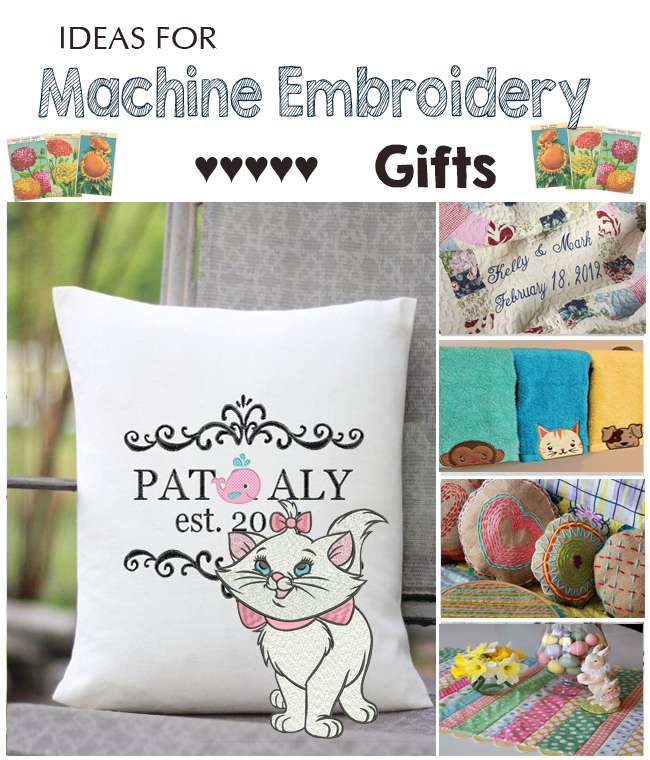 ideas for machine embroidery gifts