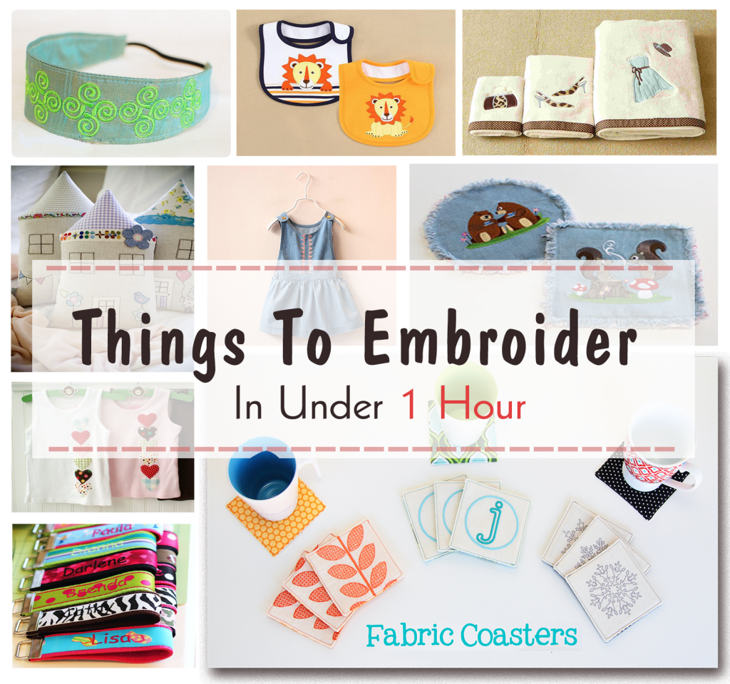 things to embroider in under 1 hour